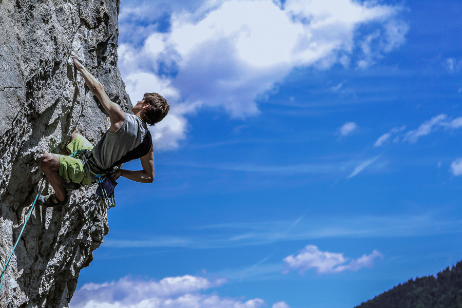 Shooting Climbing in slovenia